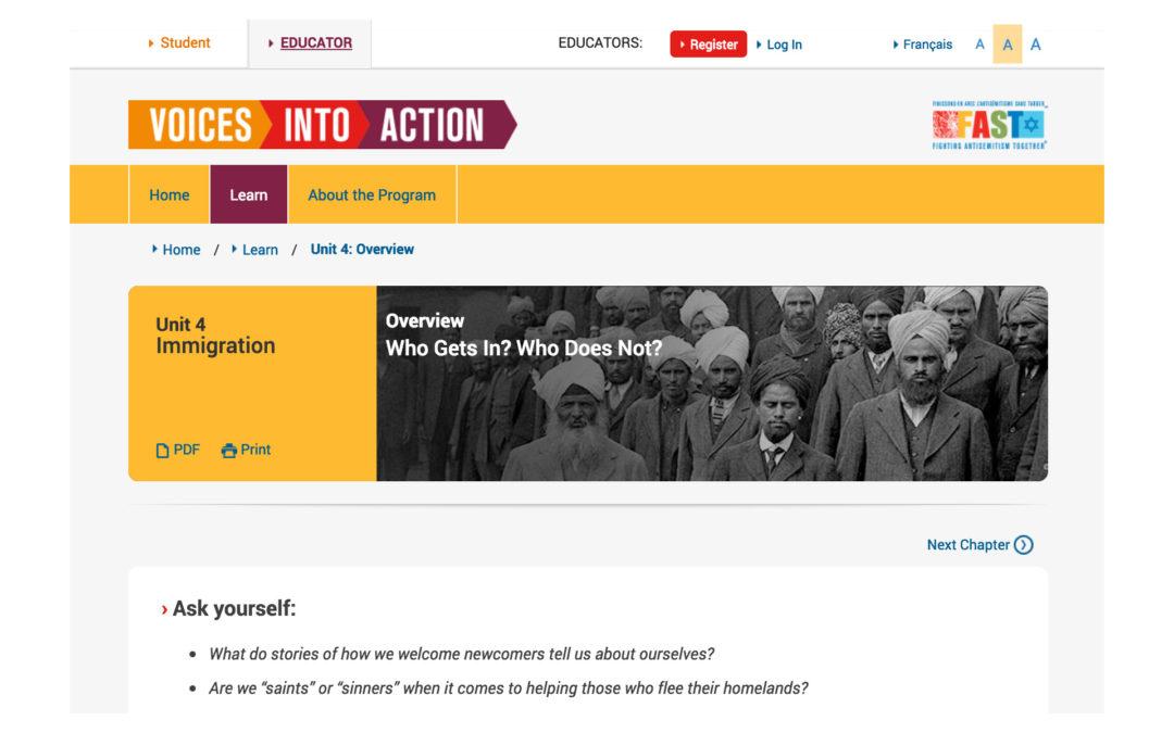 Voices into Action – Activism meets Education on Anti-Discrimination Course Site