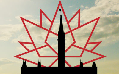 Canada 150 logo and parliament buildings