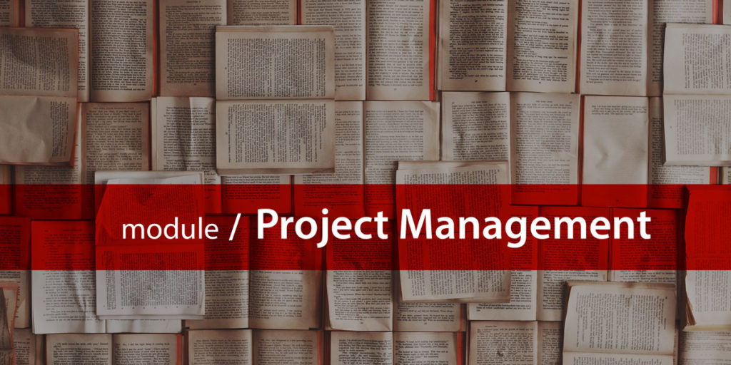 Project management module title card