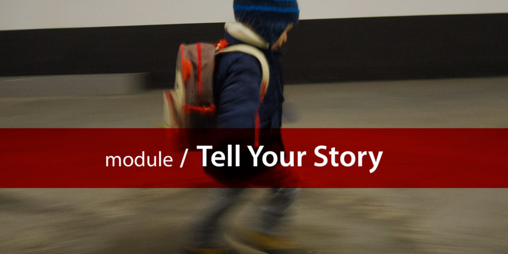 Tell your story module title card