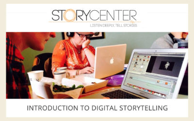 digital storytelling webinars page at Story Center website