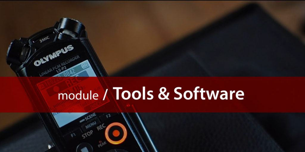 Tools and Software module title card
