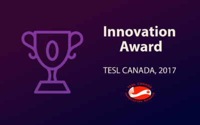 Innovation Award TESL Canada 2017