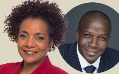 Michaëlle Jean and Donovan Bailey